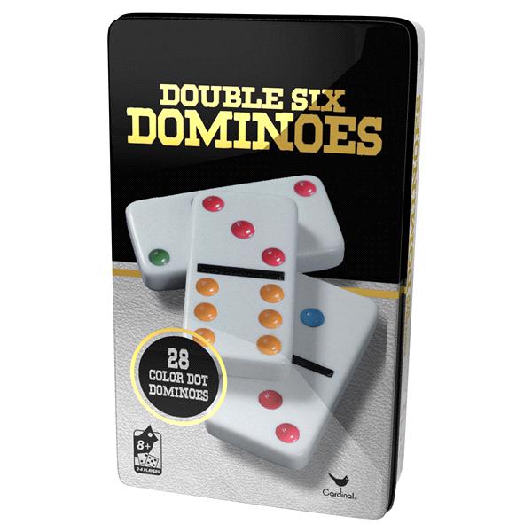 Classic Double 6 Colour Dominoes