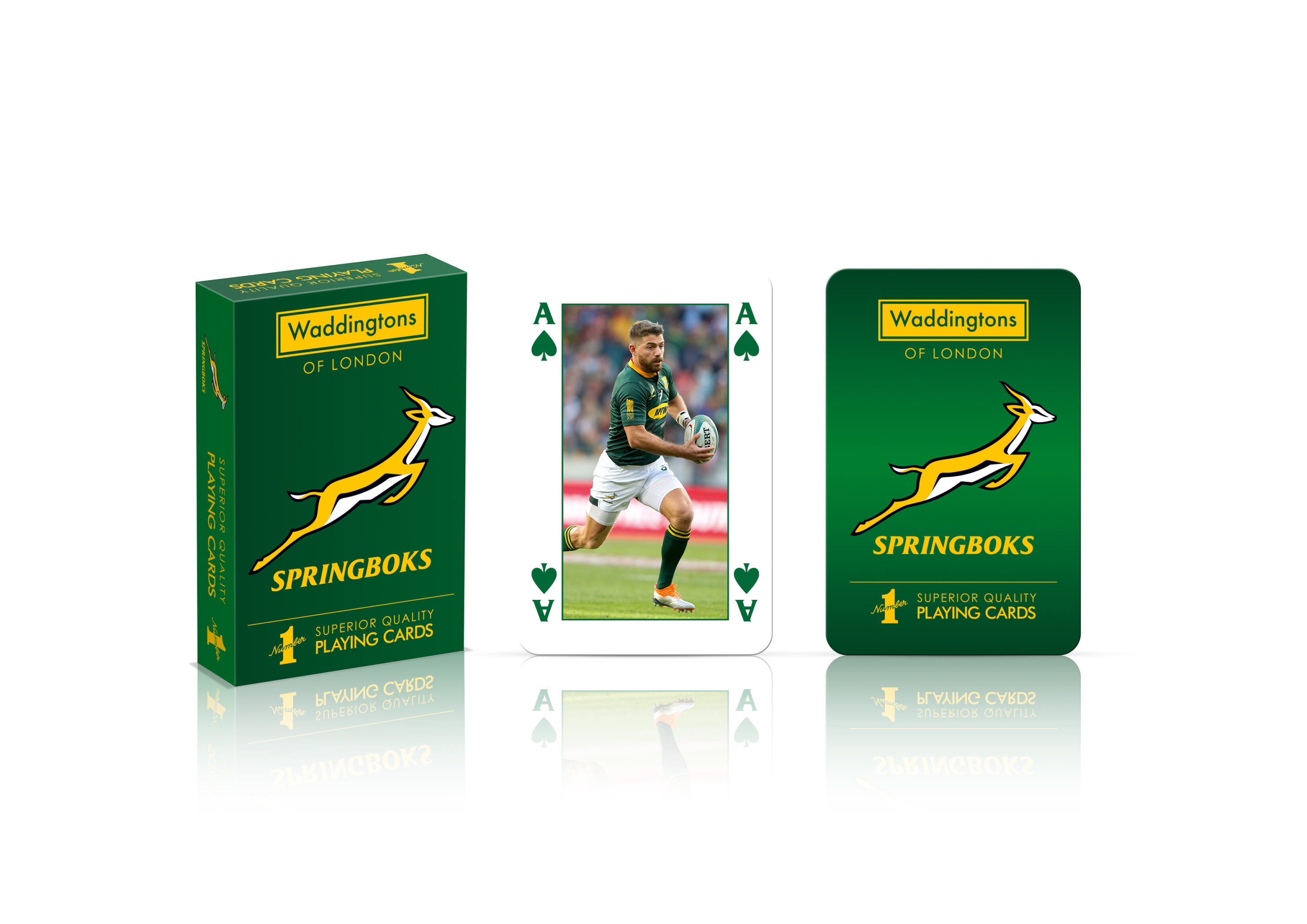 Waddingtons No.1 Playing Cards- Springboks